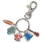 Surfer Charms Keychain 08904002