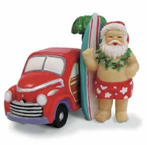 Christmas Ornament Santa with Surf Woody 13049000