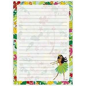 Hula Maiden Notepad 27033000