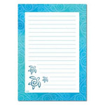 Sea Turtles Honu Swirl Lined Note Pad - 27058000