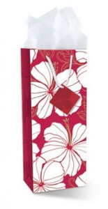Hibiscus Chic Gift Bag Wine Bottle Size  - 30126004