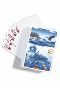 "Dolphin ""Island Joy"" Single Pack Playing Cards - 42021000"