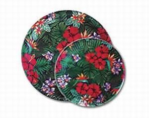"Lush Tropical Paper Plates 7"" - 47107000"