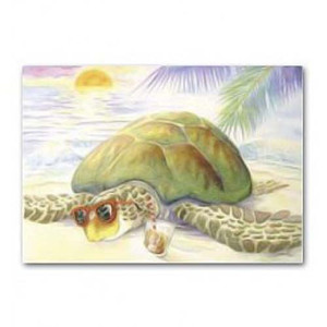 Beach Turtle Thinking of You Greeting Card 67810006