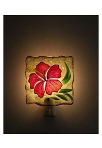Hibiscus Glass Night Light - 93200000