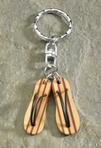Flip Flops Wooden Keychain - 9874570000