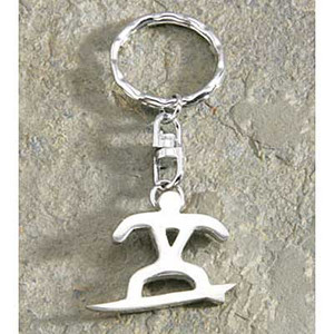 Pewter Petro Surfer Keychain 9874578000