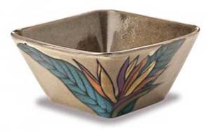 Bird of Paradise Bisque Square Bowl 9912823100