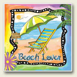 Beach Lover Single Absorbent Coaster 02-049