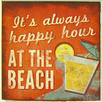 Happy Hour Single Absorbent Coaster 02-198