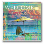 Welcome Friends - Single Absorbent Coaster - 02-710