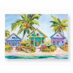 Tropical Beach Houses Note Cards Box of 8 - 08-065