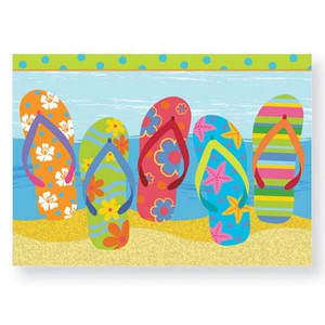 Flip Flop Parade Note Cards Pack of 8 - 08-216