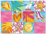 Boxed Note Cards Beach Patchwork 12 Per Box 08-240