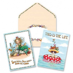 Boxed Notes Mary on Vacation Life-Mermaid 10 Pack 09-017