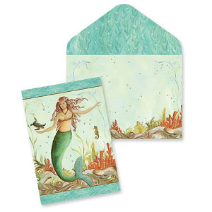 Boxed Mermaid Hideaway Note Cards 10 Pack 09-027