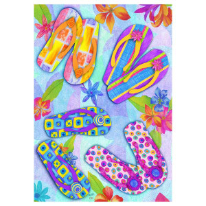 Flip Flops and Flowers Garden Flag - 0955FM