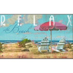 "Beach Theme Floor Mat ""Relax at the Beach"" MatMates 12336D"
