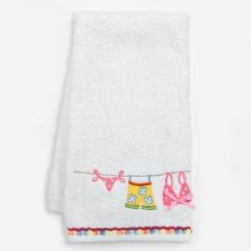 """Flip Flops """"Hanging Loose"""" Hand Towel - 12580-1"""
