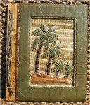 "Palm Tree Photo Album Handcrafted Tropical 9"" x 11"" 14-2-750"