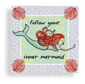 Follow Your Inner Mermaid Paper Cocktail Napkins - 15114