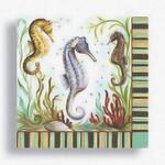 """Seahorse Paper Cocktail Napkins """"Seahorse Sanctuary"""" 15-147"""
