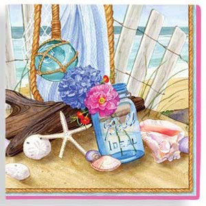 Seaside Gathering Paper Cocktail Napkins 15-152