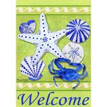 Sea Shell Welcome Garden Flag 1558FM