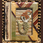 "Mermaid Photo Album Handcrafted Tropical Natural 9"" x 11"" 1560-2-750"