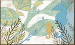 "Seahorse Theme Floor Mat ""Sea Life"" MatMates 16872D"