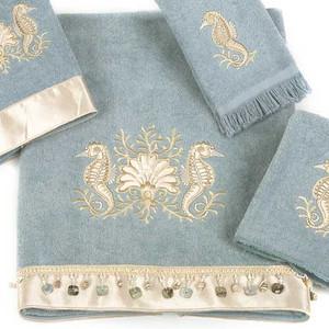 Seahorses Bath Towel Mineral 1728BM
