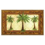 Palm Tapestry Floor Mat MatMates 17913D