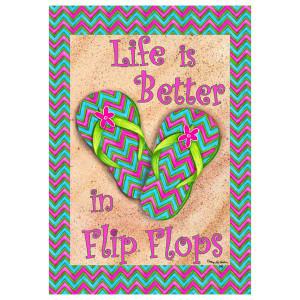Better in Flip Flops Garden Flag 1949FM