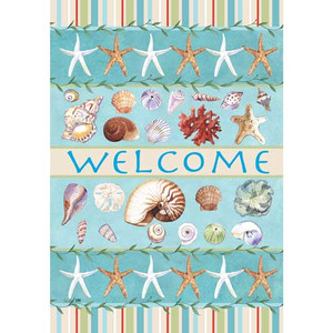 Sea Shell Welcome Garden Flag 1953FM