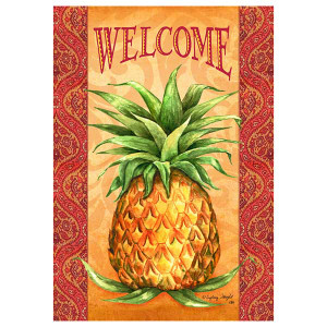 Elegant Pineapple Welcome Garden Flag 1963FM