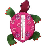 Fuschia Turtle Small Window Thermometer 21723-02