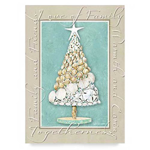 Christmas Cards Beach Sentiment 16 Per Box 25-444
