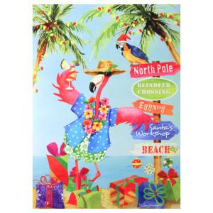 """Christmas Cards """"Flamingo Sign"""" 16 Per Box 25-453"""