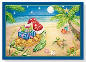Christmas Cards Sea Turtle 16 Per Box 25-506