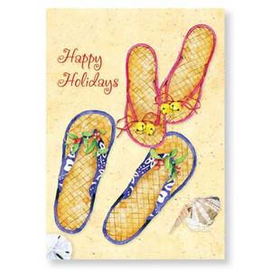 "Christmas Cards ""Christmas Flip Flops"" 16 Per Box 25-540"