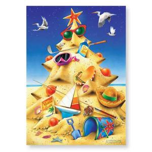 "Christmas Cards ""Sandy Christmas Tree"" 16 Per Box 25-605"