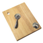 Scallop Wood Cheese Cutting Board with Spreader 25020-SCAL