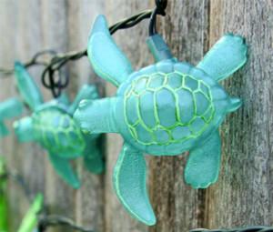 Aqua Sea Turtle String Lights 8.5' Long Strand 25255A