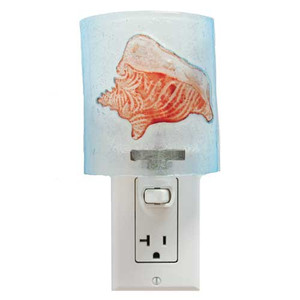 Conch Shell Glass Nightlight 25524C