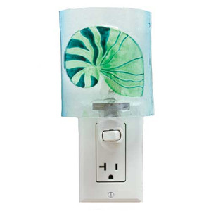 Nautilus Shell Glass Nightlight 25524N