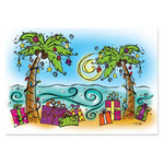 Christmas Cards Beach Presents 16 Per Box 26-601