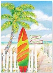 Christmas Cards Surf Theme Box of 16 - 26-607