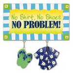 "Beach Wood & Metal Sign ""No Problem"" 30-002"