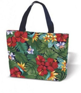 Lush Tropical Canvas Tote Bag - 31343-000