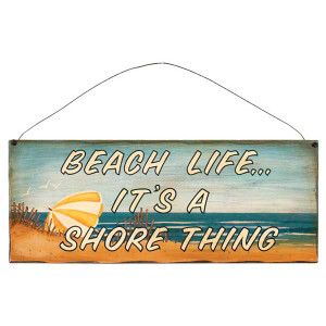 "Beach Theme Wood Sign ""Beach Life... It's a Shore Thing"" - 31376B"